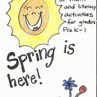 Spring is here! Math and literacy activities, perfect for