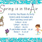 Spring is the Air: Write the Room Activities