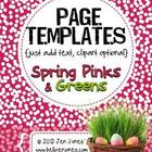 Spring-ish Page Backgrounds {Just Add Text} - For Personal