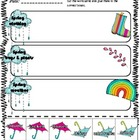 Spring words sorting.  Freebie for K-1