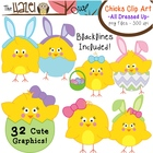 Spring/Easter Chicks & Eggs All Dressed Up: Clip Art Graph