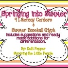 Springing into Summer Literacy Centers {w/built in differe