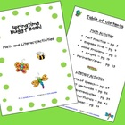 Springtime Buggy Bash!  Math and Literacy Activities