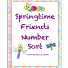 Springtime Friends Preschool Number Sorting