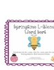 Springtime L-Blends Word Sort