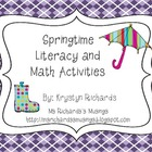 Springtime Literacy and Math Center Bundle