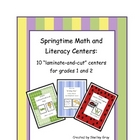 Springtime Math and Literacy Centers: Grades One and Two