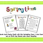 Springtime Poetry K-1 (Spring, Word Search and Recycling)