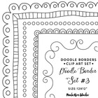 Square Doodle Black Border Frames - Doodled Borders