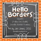 Square {Polka Dot Chalk} Doodle Border Frames - Personal &amp;