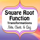 Square Root Function Graph Transformations - Notes, Charts