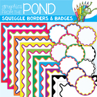 Squiggle Borders & Badges - Clipart Graphics for Teachers