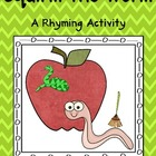 Squirm the Worm Rhyming Activity with Apples