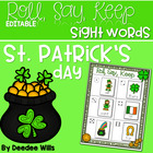 St. Paddy&#039;s Day Sight Words Roll, Say, Keep-Editable