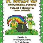 St. Partick's Day Color, Shapes, and Number Center Activities
