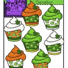 St. Patrick&#039;s Cupcakes {Creative Clips Digital Clipart}