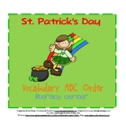 St. Patrick's Day ABC Order Activity