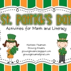 St. Patrick&#039;s Day - Activities for Math and Literacy