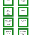 St. Patrick&#039;s Day Activity Idea Cards
