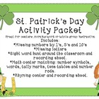 St. Patrick's Day Activity Packet math and language arts