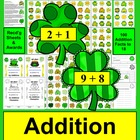 St. Patrick's Day Addition Facts Math Center - 100 Addition Facts