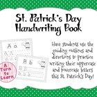 St. Patrick's Day Alphabet/Handwriting Book