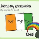 St. Patrick's Day Articulation Pack SH, CH, TH - Speech Therapy