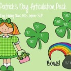 St. Patrick's Day Articulation Pack /S,R,L/- Speech Therapy