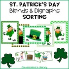 St. Patrick&#039;s Day Blends and Digraphs Picture Sorting Activity