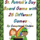 St. Patrick's Day Board Game with 26 Card Games