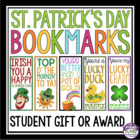 St. Patrick's Day Bookmarks:  A Great Gift For Your Students