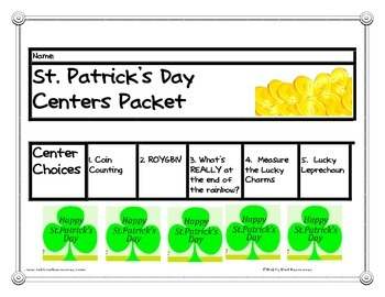 St. Patrick's Day Center Packet
