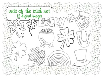 St. Patricks Day Clip Art Set