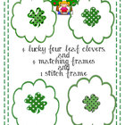 St. Patricks Day Clipart Clovers and Frames  by Teaching f