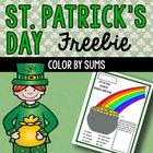 St. Patrick's Day Coloring Addition