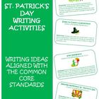 St. Patrick&#039;s Day Common Core Writing Activity Cards