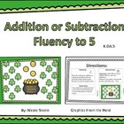 St. Patrick's Day Cover and Win Fluency to 5
