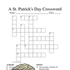 St. Patrick&#039;s Day Crossword Fun