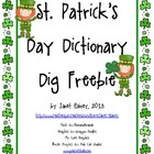 St. Patrick's Day Dictionary Dig Activity Freebie