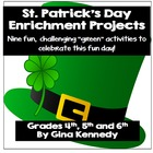 St. Patrick's Day Differentiated Writing Project Menu, CRE