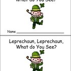 St. Patrick&#039;s Day Emergent Reader for Preschool Kindergarten