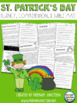 St. Patrick&#039;s Day Fluency, Comprehension, and Bubble Map Sheets