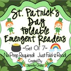 St. Patrick's Day Foldable Emergent Readers ~Set of 7~ CC