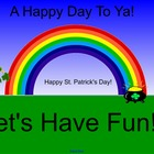 St. Patrick's Day Fun Activity File