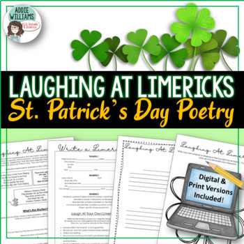 St. Patrick's Day Fun - Laughing With Limericks!  FREE!