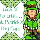 St. Patrick&#039;s Day Fun Mini Unit