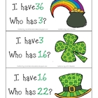 St. Patrick&#039;s Day I Have, Who Has?  1-36
