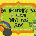 "St Patrick's Day ""I Have Who Has ABC"""