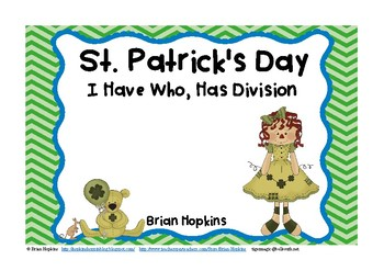 St. Patrick's Day I Have Who Has Division