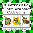 St. Patrick&#039;s Day I have...Who has...? CVCE Words Game